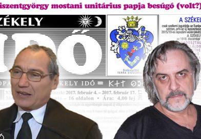 A Kovács István unitárius lelkésszel szembeni zsarolási és rágalmazási ügy fejleményeiről