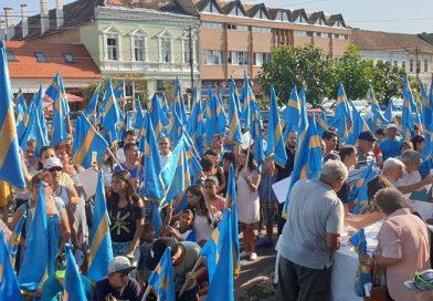 Székelykeresztúron folytatódott a Néppárt tiltakozás-sorozata